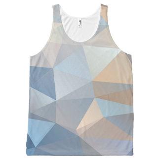 涼しく抽象的な三角形パターン オールオーバープリントタンクトップ