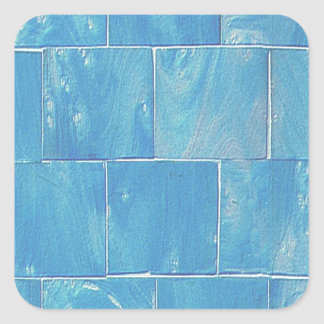 涼しく青いタイル スクエアシール