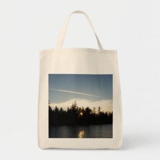 涼しく青い日没 トートバッグ