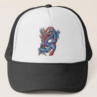 涼しく青い東洋のドラゴンの入れ墨 キャップ