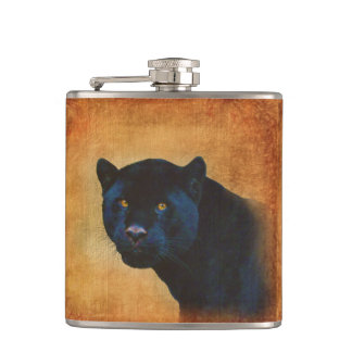 涼しく黒いジャガーのヒョウの野性生物の大きな猫 フラスク