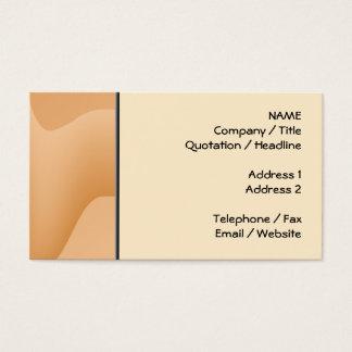 淡いオレンジ色の抽象的なイメージの設計 名刺