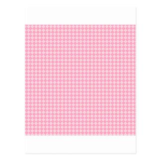 淡いピンクおよびカーネーションのピンクひし形- ポストカード