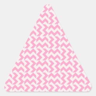 淡いピンクおよびカーネーションのピンクV&Hの広いジグザグ形- 三角形シール