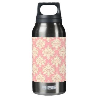 淡いピンクおよびクリーム色のダマスク織 断熱ウォーターボトル