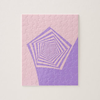 淡いピンクおよびラベンダーのパズルの米国国防総省の螺線形 ジグソーパズル