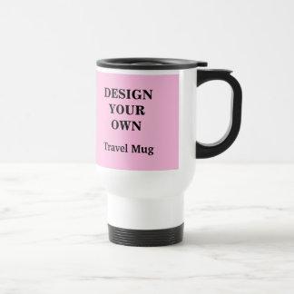 淡いピンクおよび白いあなた自身のタンブラーを-設計して下さい トラベルマグ