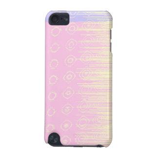 淡いピンクおよび黄色のかわいらしい抽象芸術 iPod TOUCH 5G ケース
