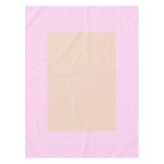 淡いピンクのかわいらしいパステル調のクリーム色のパネルだけ テーブルクロス