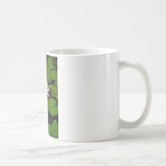 淡いピンクのはすスイレンの花 コーヒーマグカップ