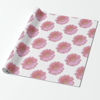 淡いピンクのガーベラのデイジー ラッピングペーパー