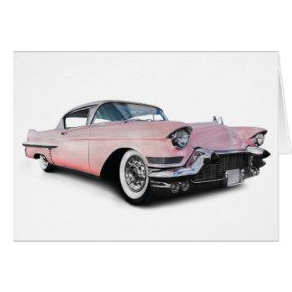 淡いピンクのキャデラック カード