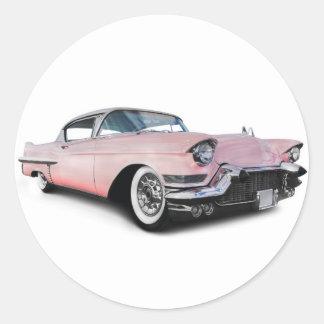 淡いピンクのキャデラック ラウンドシール