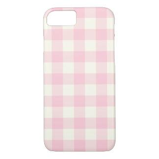 淡いピンクのギンガムパターンiPhone 7の箱 iPhone 8/7ケース