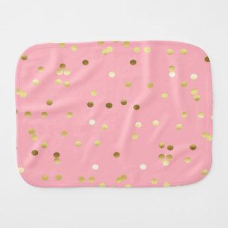淡いピンクのシックな金ゴールドホイルの紙吹雪 バープクロス