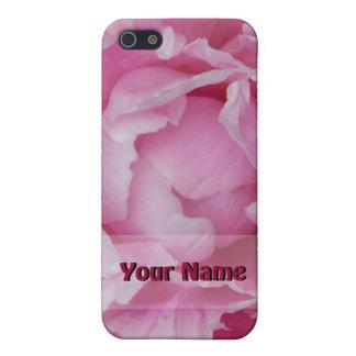 淡いピンクのシャクヤクのiPhoneの場合 iPhone SE/5/5sケース