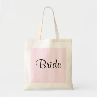 淡いピンクのストライプな結婚式 トートバッグ
