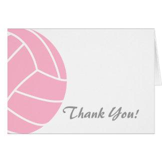 淡いピンクのバレーボール カード