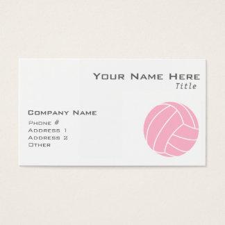 淡いピンクのバレーボール 名刺