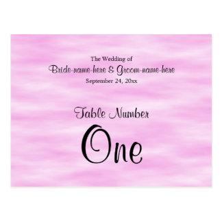 淡いピンクのパターン結婚式のテーブル数設計 ポストカード