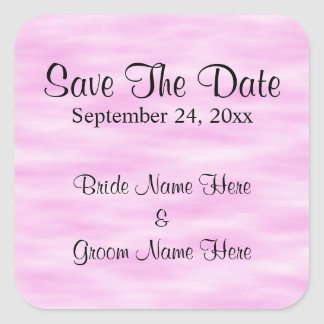 淡いピンクのパターン結婚式の保存日付の設計 スクエアシール