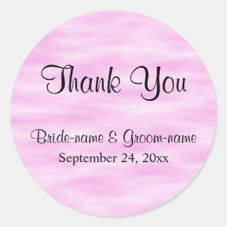 淡いピンクのパターン結婚式は設計感謝していしています ラウンドシール