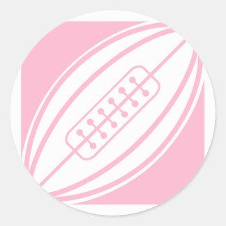 淡いピンクのラグビー ラウンドシール