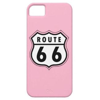 淡いピンクのルート66の交通標識 iPhone SE/5/5s ケース