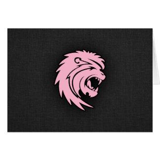 淡いピンクのレオ カード