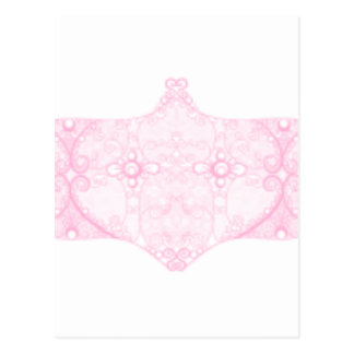 淡いピンクのレースのストリップ ポストカード