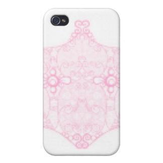 淡いピンクのレースのストリップ iPhone 4/4Sケース
