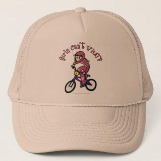 淡いピンクの女の子BMX キャップ