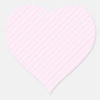 淡いピンクの斜めの縞 ハートシール