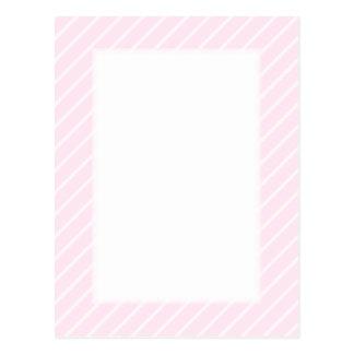 淡いピンクの斜めの縞 ポストカード