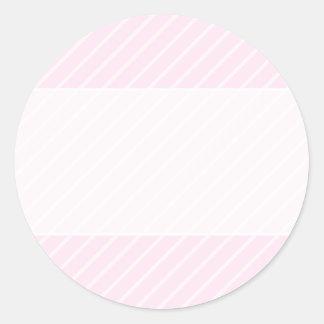 淡いピンクの斜めの縞 ラウンドシール