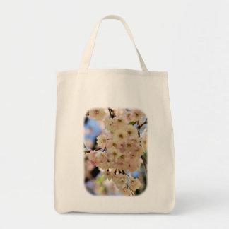 淡いピンクの春は花の自然のトートバック活気付きます トートバッグ