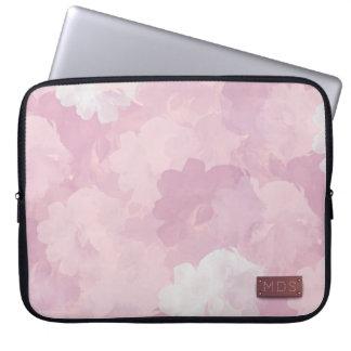 淡いピンクの水彩画のバラのラップトップスリーブ ラップトップスリーブ