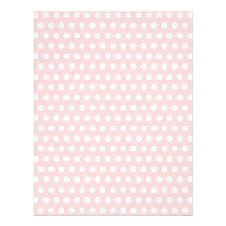 淡いピンクの白い水玉模様 チラシ