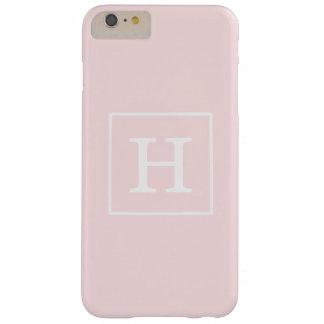 淡いピンクの白によって組み立てられる最初のモノグラム スキニー iPhone 6 PLUS ケース