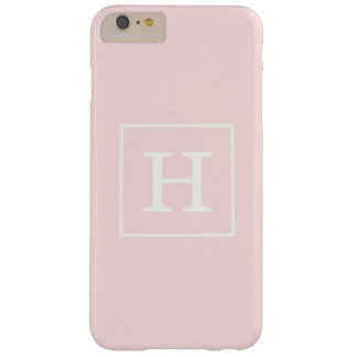 淡いピンクの白によって組み立てられる最初のモノグラム BARELY THERE iPhone 6 PLUS ケース