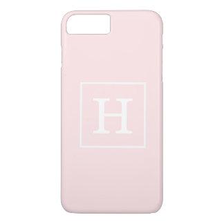 淡いピンクの白によって組み立てられる最初のモノグラム iPhone 8 PLUS/7 PLUSケース