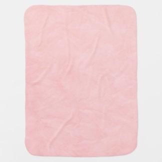 淡いピンクの背景文書の質- ベビー ブランケット