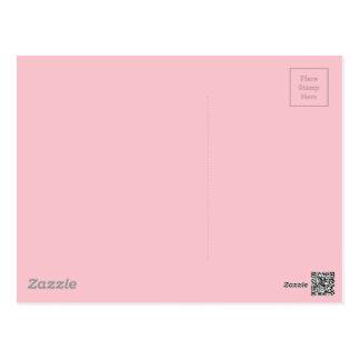 淡いピンクの色 ポストカード