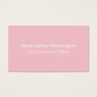 淡いピンクの色 名刺