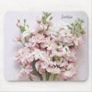 淡いピンクの花のmousepad マウスパッド