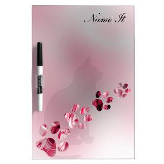 淡いピンクの足動物 ホワイトボード