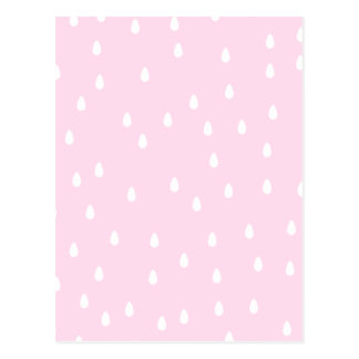淡いピンクの雨パターン。 白およびピンク ポストカード