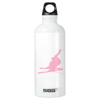 淡いピンクの雪のスキー ウォーターボトル
