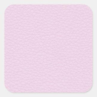 淡いピンクの革の写真 スクエアシール