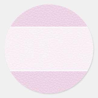 淡いピンクの革の写真 ラウンドシール